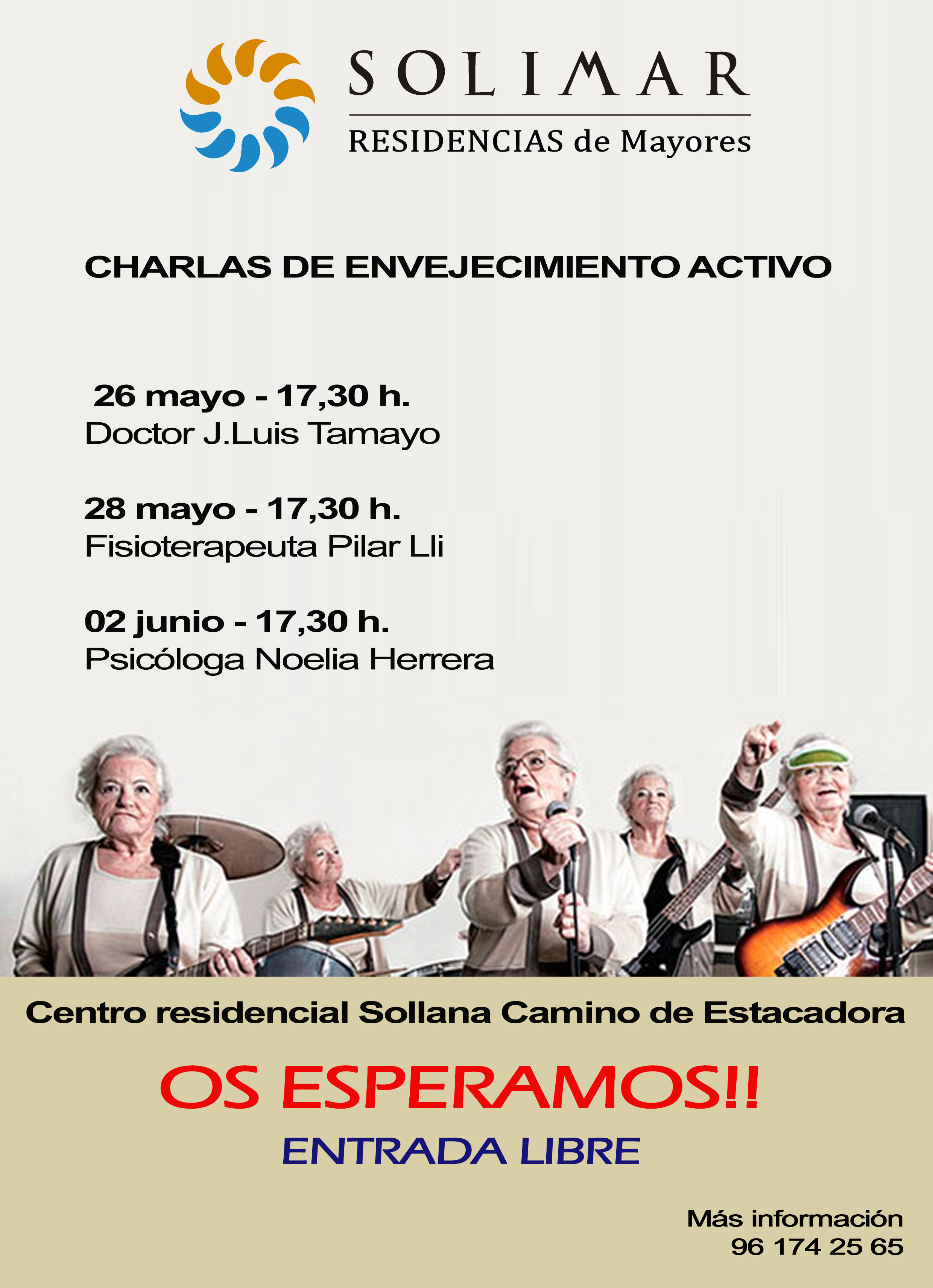 cartel charlas sollana