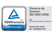 sello ISO 9001:2008 UNE Domicilio