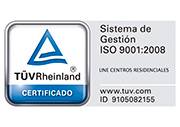 sello ISO 9001:2008 UNE Residencias