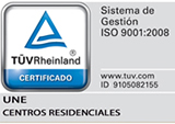 sello ISO 9001:2008 UNE Residencias