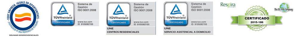 Certificados ISO Residencia Solimar